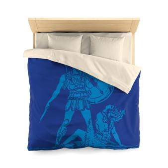 Greek | Blue Surrender Microfiber Duvet Cover