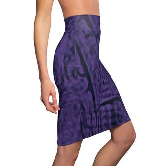 Abstract | Purple Women's Pencil Skirt