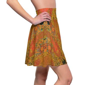 On Sale Klimt Adele Bloch-Bauer Women's Skater Skirt by Neoclassical Pop Art