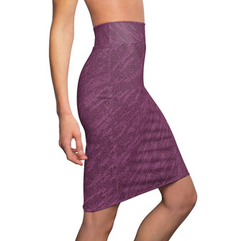 On Sale Abstract Art Purple Rain Women's Pencil Skirt by Neoclassical Pop Art