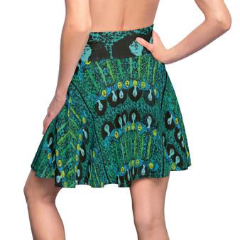 On Sale Klimt Beethoven Boho chic Green Women's Skater Skirt by Neoclassical Pop Art