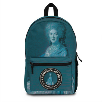 On Sale Countess of Sorcy  Blue Neoclassical Backpack  by Neoclassical Pop Art