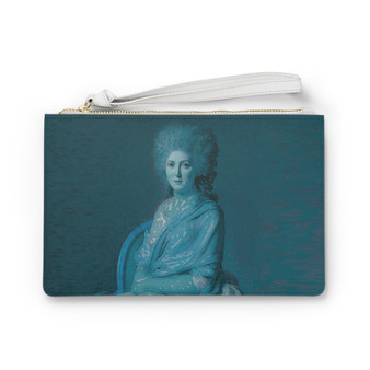 Shop for Portrait of Anne Marie Louise Blue Clutch Bag by Neoclassical Pop Art