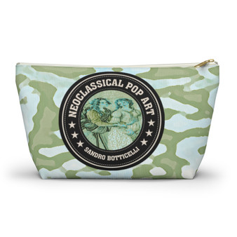 On Sale Botticelli Grace Pale Green Accessory Pouch by Neoclassical Pop Art
