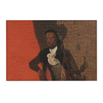 On Sale Goya Matador  Orange Brown Area Rugs  by Neoclassical Pop Art