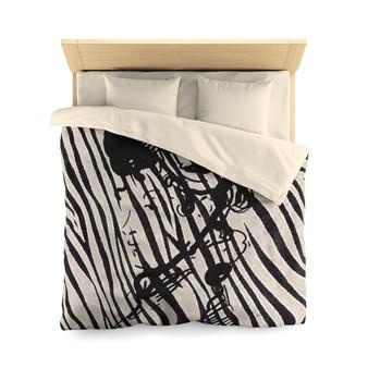 Manet Zebra Microfiber Duvet Cover by Neoclassical Pop Art