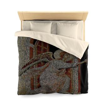 On sale online Duccio Angel Microfiber Duvet Cover by Neoclassical pop art