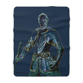 On Sale Van Dyck Man in Armor Sherpa Fleece Blanket by Neoclassical Pop Art