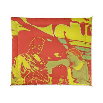 On Sale  The Greek Lovers Orange Yellow Comforter by Neoclassical Pop Art