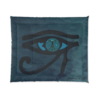 On Sale Da Vinci Vitruvian Man Eye of Horus Comforter by Neoclassical Pop Art