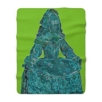 On Sale Valazquez La Infanta Margarita Sherpa Fleece Blanket by Neoclassical Pop Art