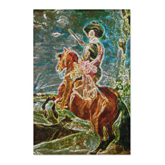 On Sale Valazquez Horse Back Rider Area Rugs by Neoclassical Pop Art
