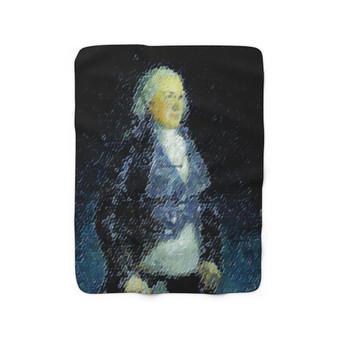 Goya Duke Of Osuna Sherpa Fleece Blanket by Neoclassical pop art