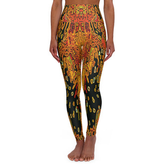 On Sale Klimt  Lady in Gold  High Waisted Yoga Leggings by Neoclassical Pop Art