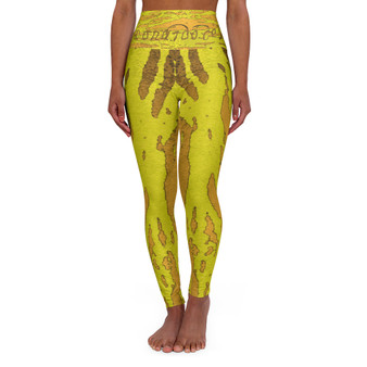 On Sale Abstract Tiger Signature High Waisted Yoga Leggings by Neoclassical Pop Art