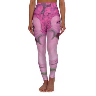On Sale Bronzino Venus & Cupid High Waisted Yoga Leggings by Neoclassical Pop Art