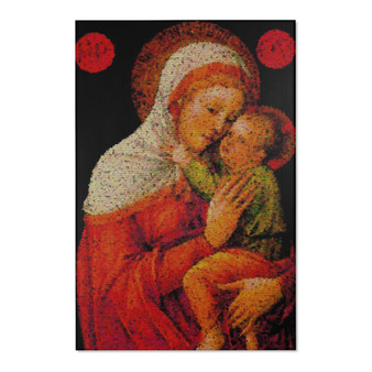 On Sale Bellini Madonna and Child Area Rugs  by Neoclassical Pop Art