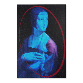 On Sale Da Vinci Lady with an Ermin Area Rugs by Neoclassical Pop Art