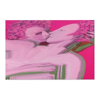 On Sale Gray Venus Cupid Pink Area Rugs by Neoclassical Pop Art
