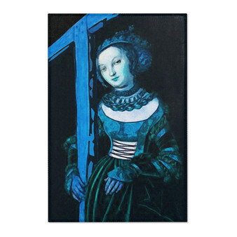 On Sale The Younger Blue Cross Area Rugs by Neoclassical Pop Art