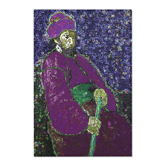 On Sale Rembrandt Man with s Stick Purple Area Rugs by Neoclassical Pop Art