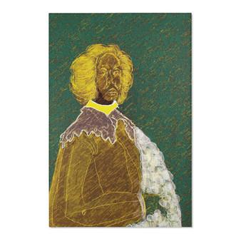 On Sale Valazquez Juan de Pareja Yellow Green Area Rugs by Neoclassical Pop Art