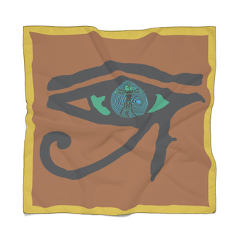 Abstract   Eye of the Art Turquoise Poly Scarf