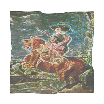 On Sale Velázquez Horse Rider Poly Scarf by Neoclassical Pop Art