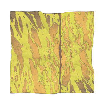 Abstract   Yellow Tiger Poly Scarf
