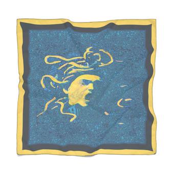 Caravaggio | Blue Medusa Poly Scarf