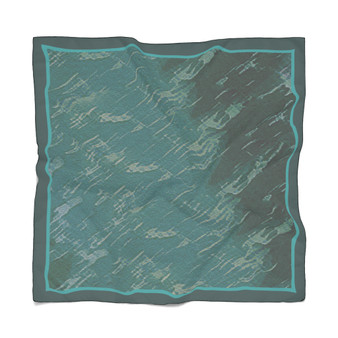 turquoise  Abstract Art  Poly Scarf by Neoclassical pop art
