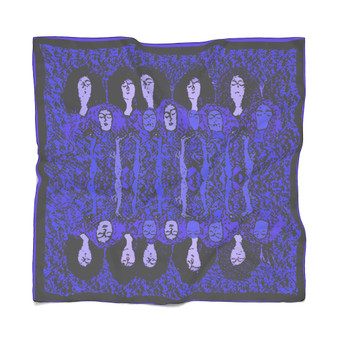 On Sale Klimt Deep Purple Poly Scarf  by Neoclassical Pop Art