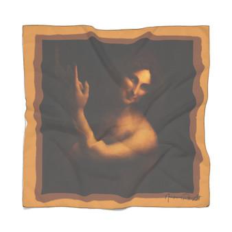 Da Vinci  Hand of God Poly Scarf by Neoclassical Pop Art