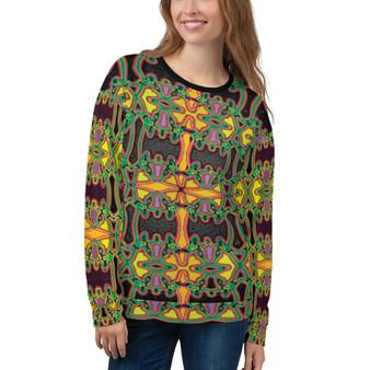 On Sale Leonardo Da Vinci Cross Unisex Sweatshirt by Neoclassical Pop Art