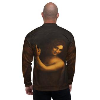 On Sale Da Vinci Saint John the Baptist Unisex Bomber Jacket by Neoclassical Pop Art