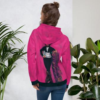 On Sale Manet  Spanish Majo Portrait Pink Unisex Hoodie by Neoclassical Pop Art