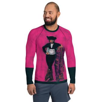 On Sale Manet Spanish Majo Pink Men's Rash Guard by Neoclassical Pop Art
