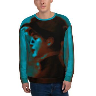 On Sale Manet Mademoiselle Suzette Blue Unisex Sweatshirt by Neoclassical Pop Art