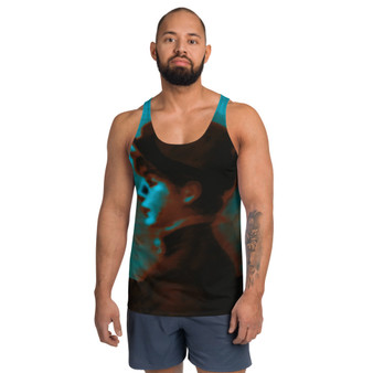 on sale Manet Suzette Lemaire  brown blue Unisex Tank Top by neoclassical pop art
