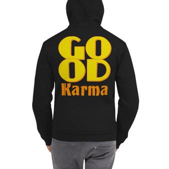 On Sale Good Karma Zip Up Hoodie Sweater  by Neoclassical Pop Art