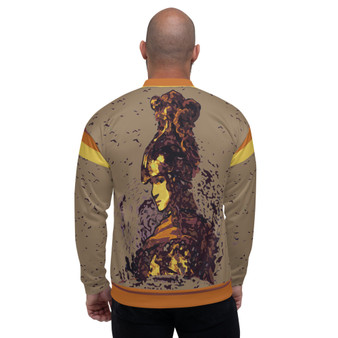 On Sale Rembrandt  Warrior Unisex Bomber Jacket by Neoclassical Pop Art