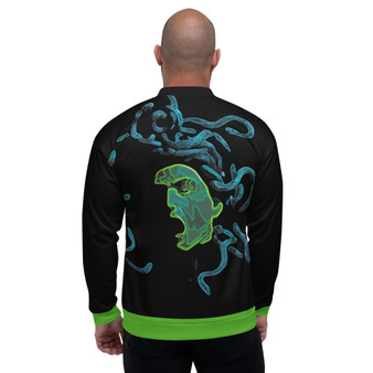 On Sale Caravaggio Medusa Unisex Bomber Jacket by Neoclassical Pop Art