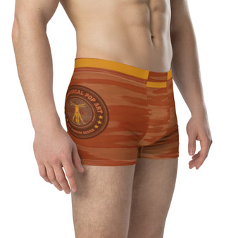 Da Vinci | Orange Peach Abstract Boxer Briefs