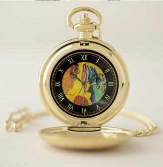 On Sale Sandro Botticelli Gold Venus Pocket Watch by Neoclassical Pop Art