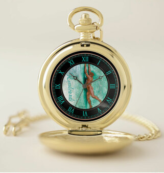 Rubens Hanging Man Gold Pocket Watch by Neoclassical Pop Art