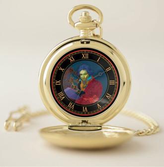 Beethoven Golden Pocket Watch by Neoclassical Pop Art