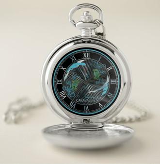 Caravaggio Medusa Silver pocket  Watch  by Neoclassical Pop Art