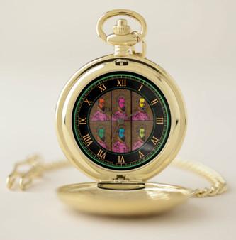 Botticelli Gold Dante Pocket Watch by Neoclassical Pop Art