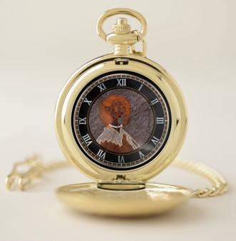 Velazquez  Black is not a color Pocket Watch Gold by Neoclassical Pop Art