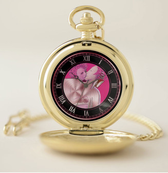 Bronzino Venus & Cupid Pocket Watch by Neoclassical Pop Art